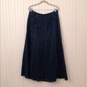 Sonoma   long Denim skirt size 12 modest